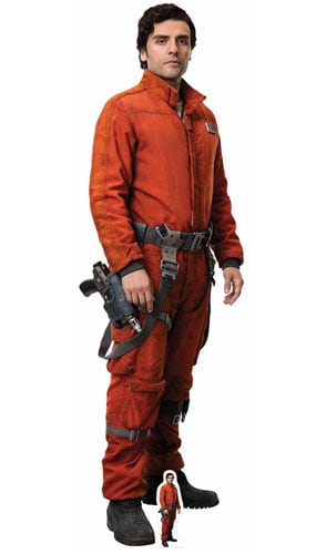 Star Wars The Last Jedi Poe Dameron Lifesize Cardboard Cutout 174cm Product Gallery Image