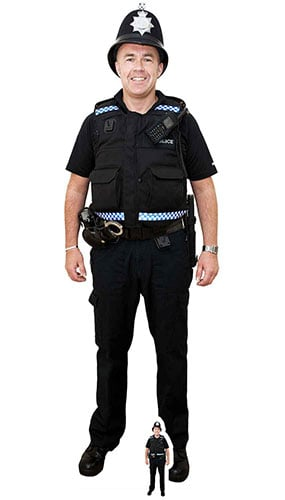Policeman With Bobby Hat Lifesize Cardboard Cutout 190cm Product Gallery Image