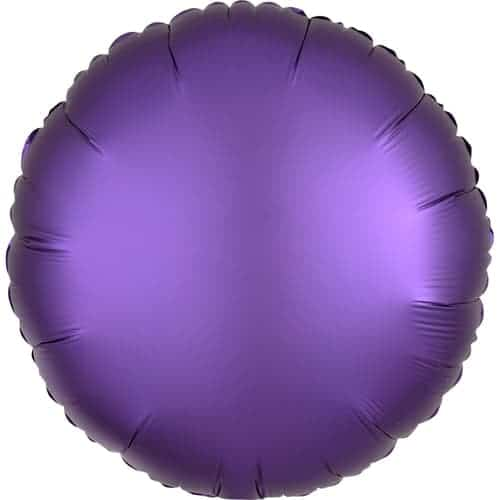 Purple Royale Satin Luxe Round Foil Helium Balloon 43cm / 17Inch