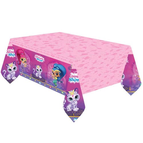 Shimmer And Shine Plastic Tablecover 180cm