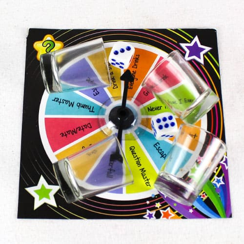 Spin-A-Disc Adult Drinking Game