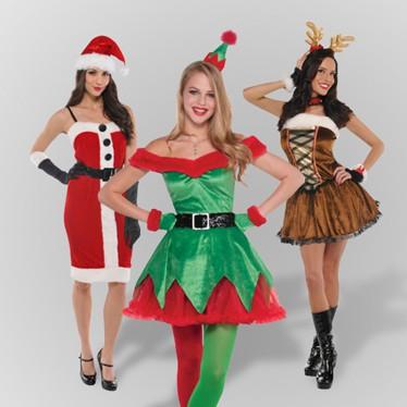 Christmas Fancy Dress.Women S Christmas Fancy Dress Costumes Partyrama