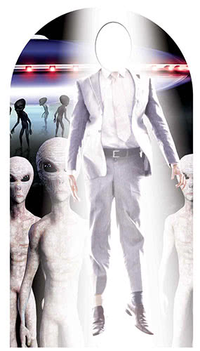 Alien Abduction Stand In Lifesize Cardboard Cutout 174cm Product Gallery Image