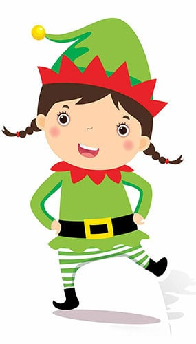 Christmas Elf Mini Cardboard Cutout 82cm Product Gallery Image