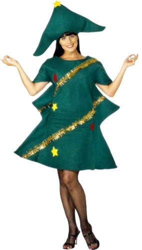 Green Christmas Tree Adult Fancy Dress Costume - One Size