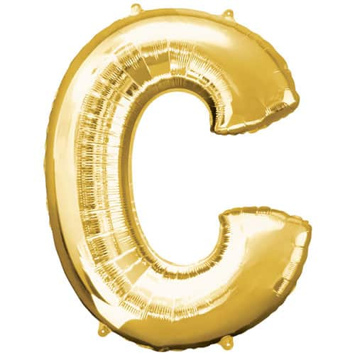 Gold Letter C Air Fill Foil Balloon 40cm / 16Inch Product Image