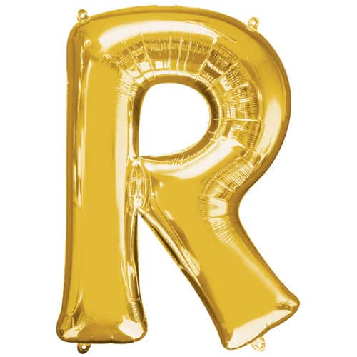 Gold Letter R Air Fill Foil Balloon 40cm / 16Inch Product Image