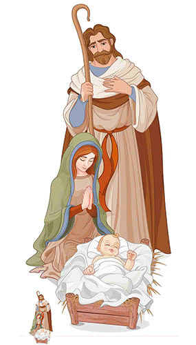 Christmas Nativity Scene Lifesize Cardboard Cutout 183cm Product Gallery Image