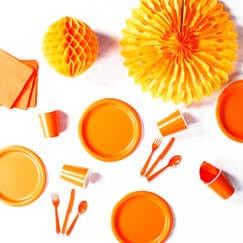 Orange Party Supplies
