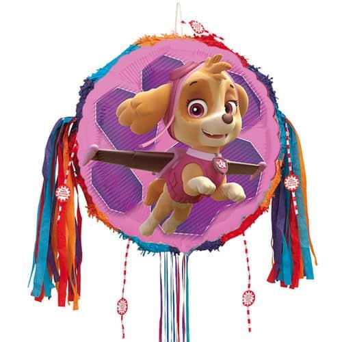 Paw Patrol Pink Skye Pull String Pinata
