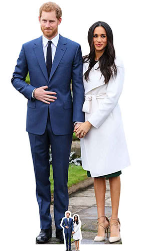 Prince Harry And Meghan Markle Lifesize Cardboard Cutout 186cm Product Gallery Image