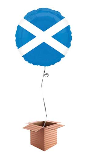 Scotland Flag Foil Helium Balloon - Inflated Balloon in a Box