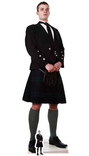 Scottish Man In Kilt Lifesize Cardboard Cutout 183cm