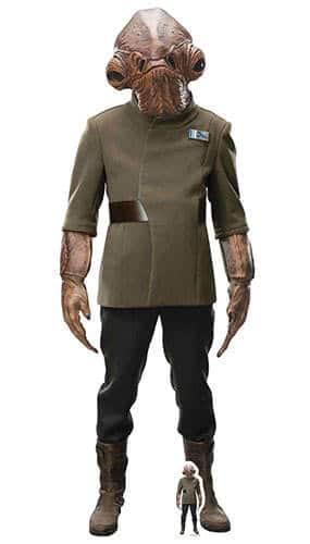 Star Wars The Last Jedi Admiral Ackbar Lifesize Cardboard Cutout 180cm Product Gallery Image