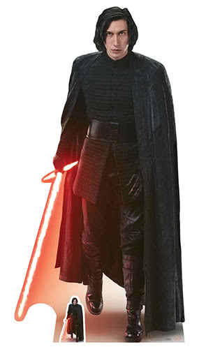 Star Wars The Last Jedi Kylo Ren Lifesize Cardboard Cutout 188cm Product Gallery Image