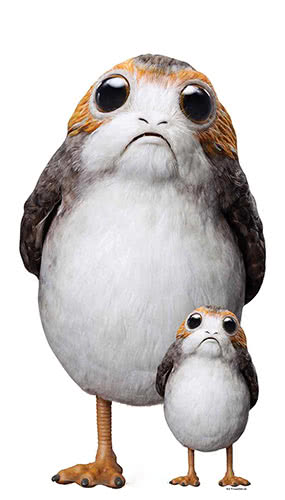 Star Wars The Last Jedi Porg Lifesize Cardboard Cutout 72cm Product Gallery Image