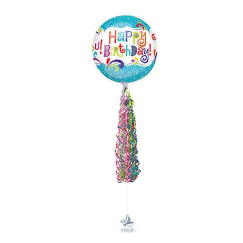 Twirlz Medium Jewel Multi Coloured Balloon Tail 86cm Product Gallery Image