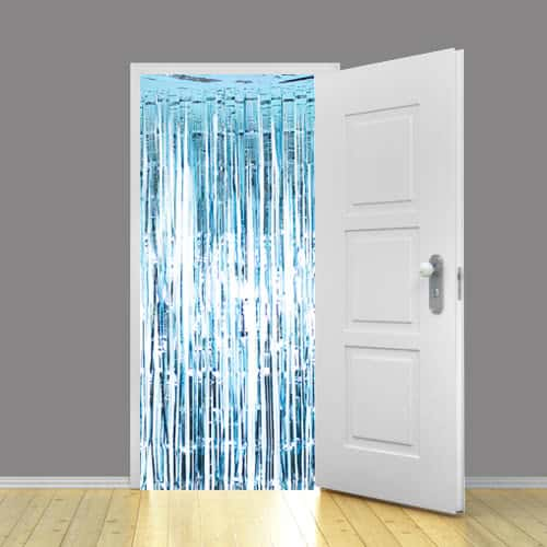 Baby Blue Metallic Shimmer Curtain 92 x 244cm - Pack of 5 Product Gallery Image
