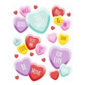 Valentines Candy Hearts Window Clings Decoration 43cm