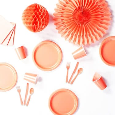 Coral Party Supplies