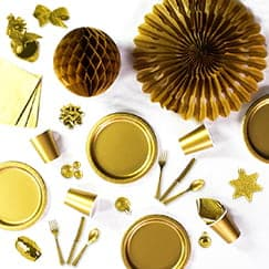 Gold Party Supplies