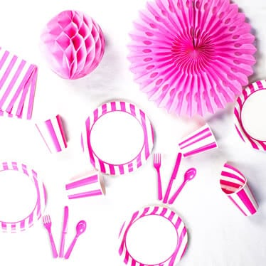 Pink Stripes Party Supplies