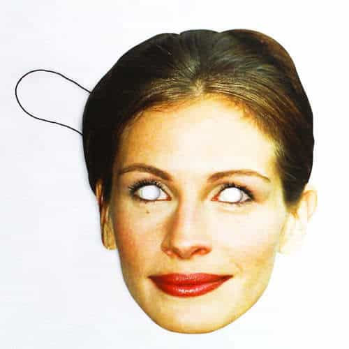 Julia Roberts Cardboard Face Mask