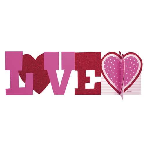 Valentines Love 3D Deluxe Centrepiece Table Decoration 35cm
