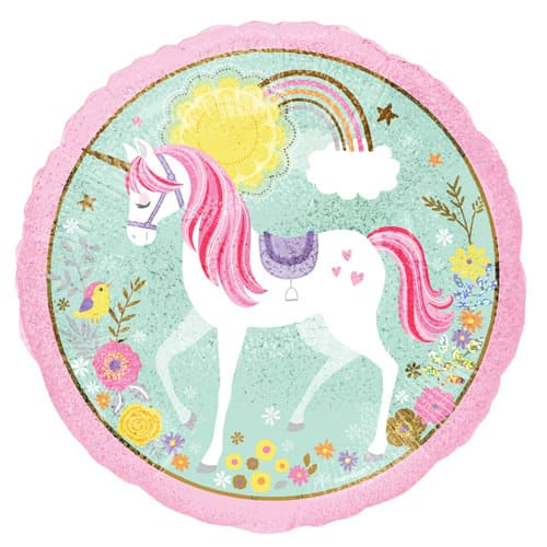 Magical Unicorn Holographic Foil Helium Balloon 45cm / 18Inch Product Gallery Image