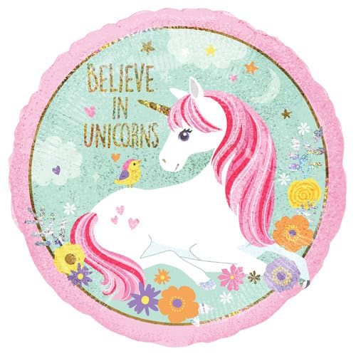 Magical Unicorn Holographic Foil Helium Balloon 45cm / 18Inch