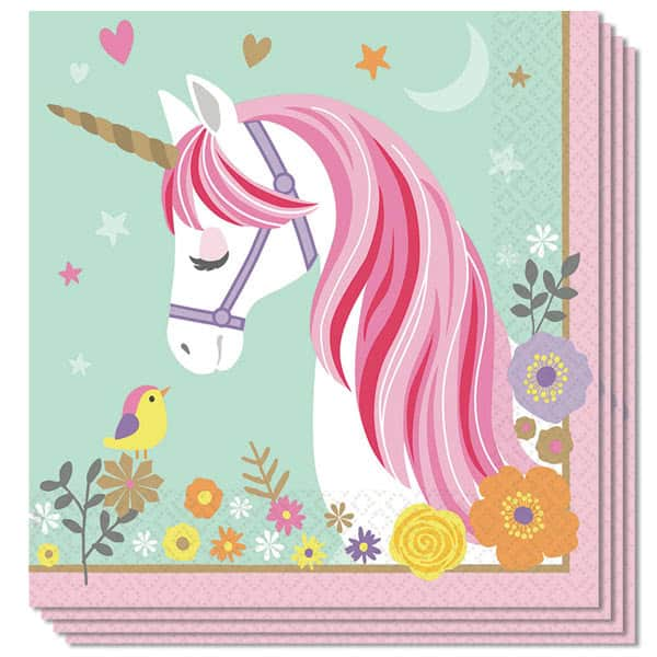 Magical Unicorn Luncheon Napkins 33cm 2Ply - Pack of 16