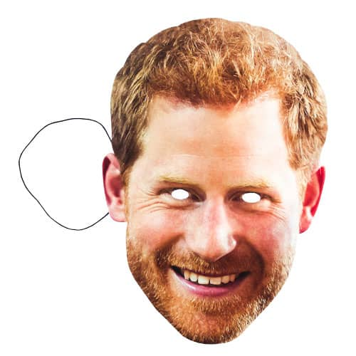 Prince Harry Smiling Cardboard Face Mask