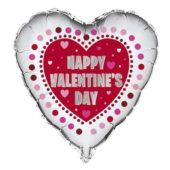 Happy Valentines Day Radiant Hearts Foil Helium Balloon 46cm / 18Inch