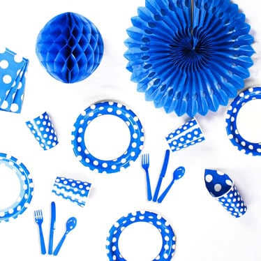 Blue & White Dots