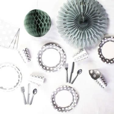 Silver Decorative Dots Party Supplies