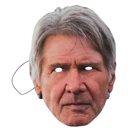 Star Wars Han Solo Harrison Ford Cardboard Face Mask