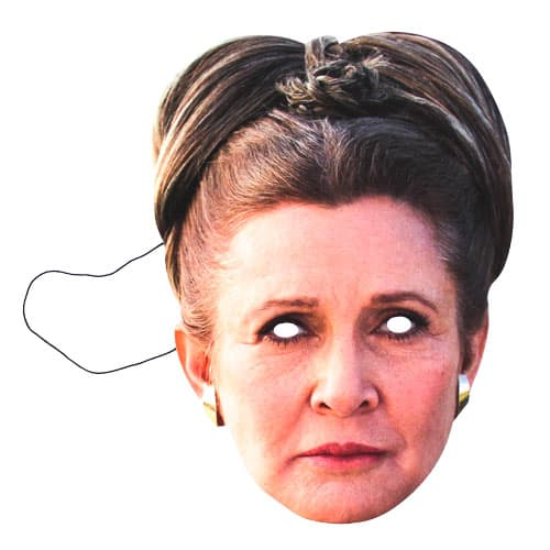 Star Wars The Last Jedi Leia Organa Carrie Fisher Cardboard Face Mask