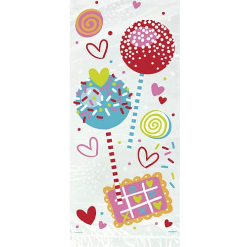 Sweet Valentine Cello Bags with Twist Ties - Pack of 20