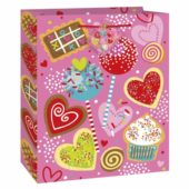 Sweet Valentine Medium Glossy Gift Bag 23cm