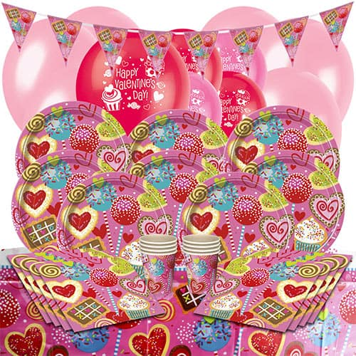 Sweet Valentine 16 Person Deluxe Party Pack