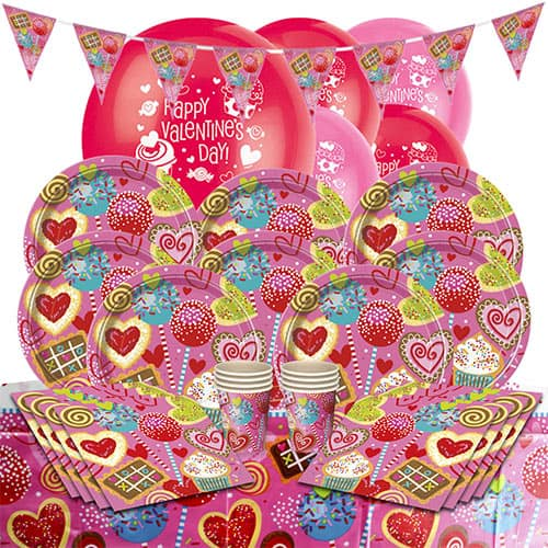 Sweet Valentine 8 Person Deluxe Party Pack