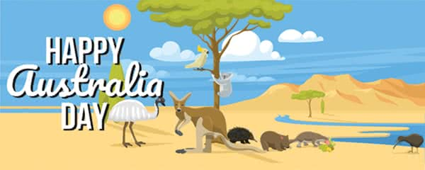 Australian Animals Design Large Personalised Banner - 10ft x 4ft