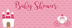 Baby Shower Carriage And Castle Design Personalised Banner – 4ft x 2ft