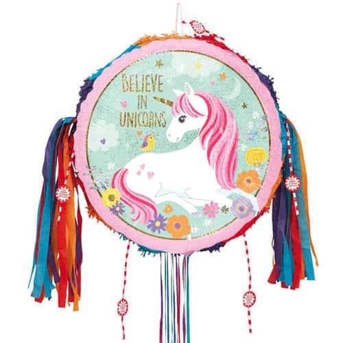 Believe In Unicorns Pull String Pinata