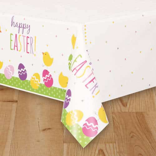 Cute Easter Plastic Tablecover 213cm x 137cm