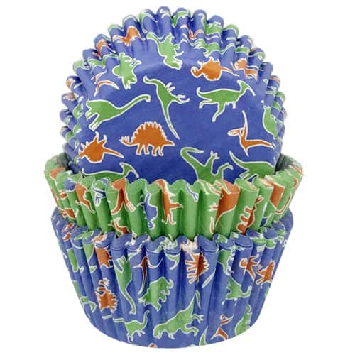 Dinosaur Paper Cupcake Cases - Pack of 75 Product Image