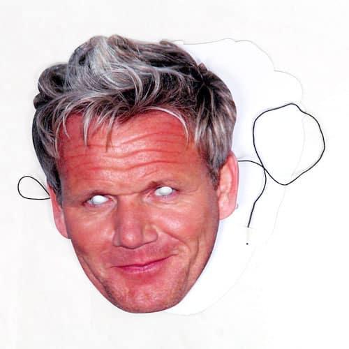 Gordon Ramsay Cardboard Face Mask