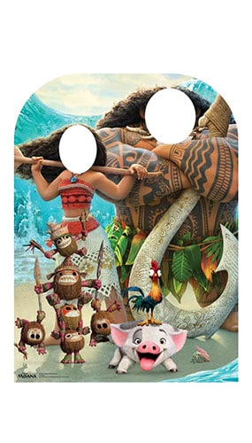 Moana Child Stand In Lifesize Cardboard Cutout 131cm Product Gallery Image