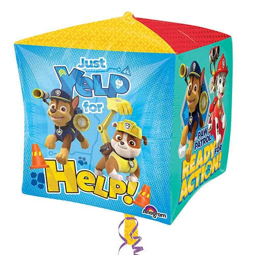 Paw Patrol Cubez Foil Helium Balloon 38cm / 15Inch Product Gallery Image