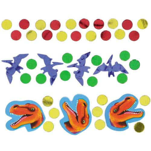 Prehistoric Party Value Table Confetti 34 Grams - Pack of 3